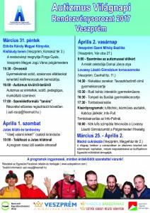 Autizmus világnap 2017 plakát, Veszprém